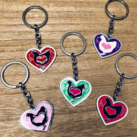 Chicken Love Keyring