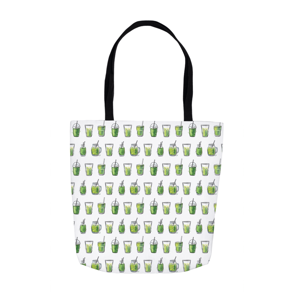 Green Juice Tote Bag