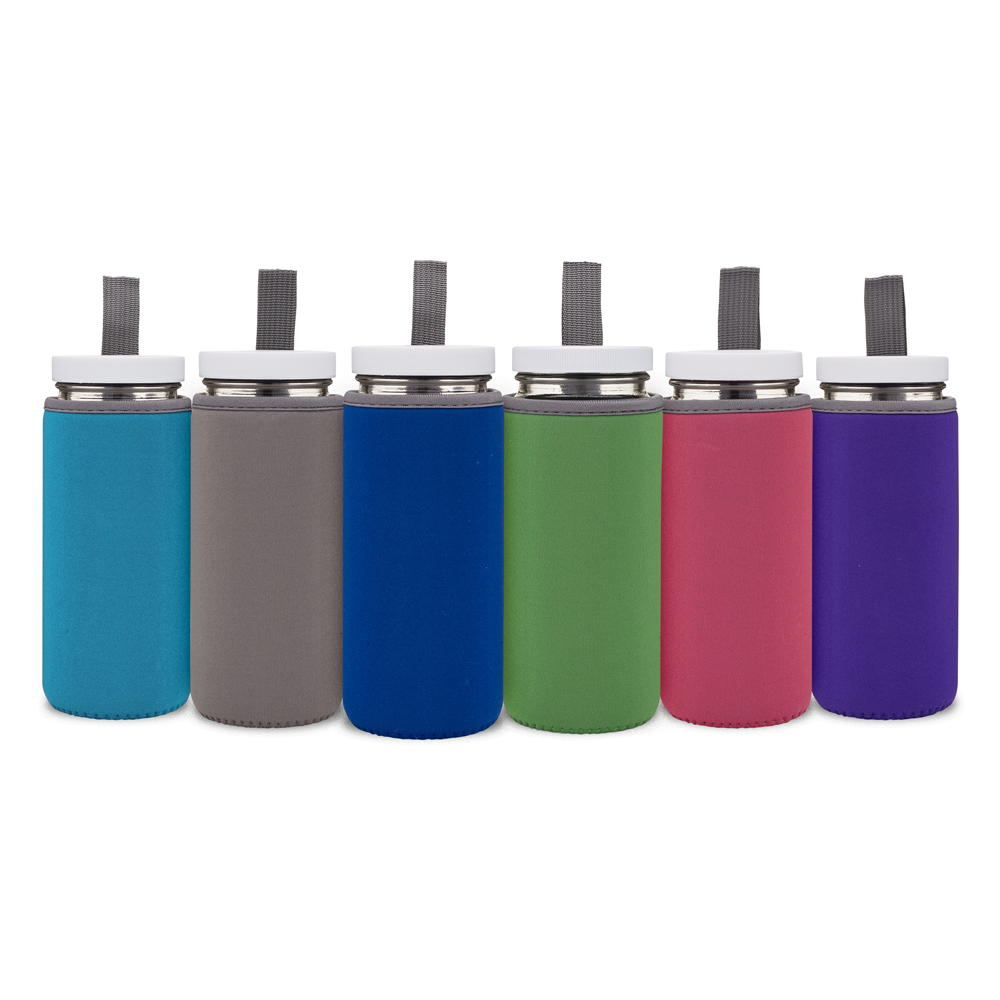 Neoprene Protective Bottle Sleeves Set (Vibrant Colors)