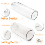 ORIGINAL SERIES - Juice Bottles Set - Wide Mouth with Lids for Juice, Smoothies, Beverage Storage