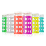 Geometric Cube Silicone Bottle Sleeves Set (Vibrant Colors)