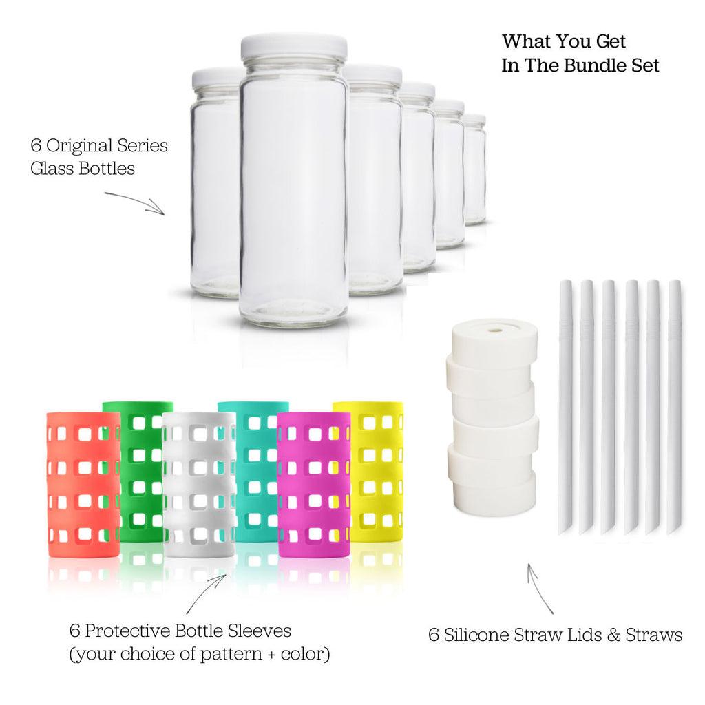 Original Series Bottle Bundle w/ White Lids