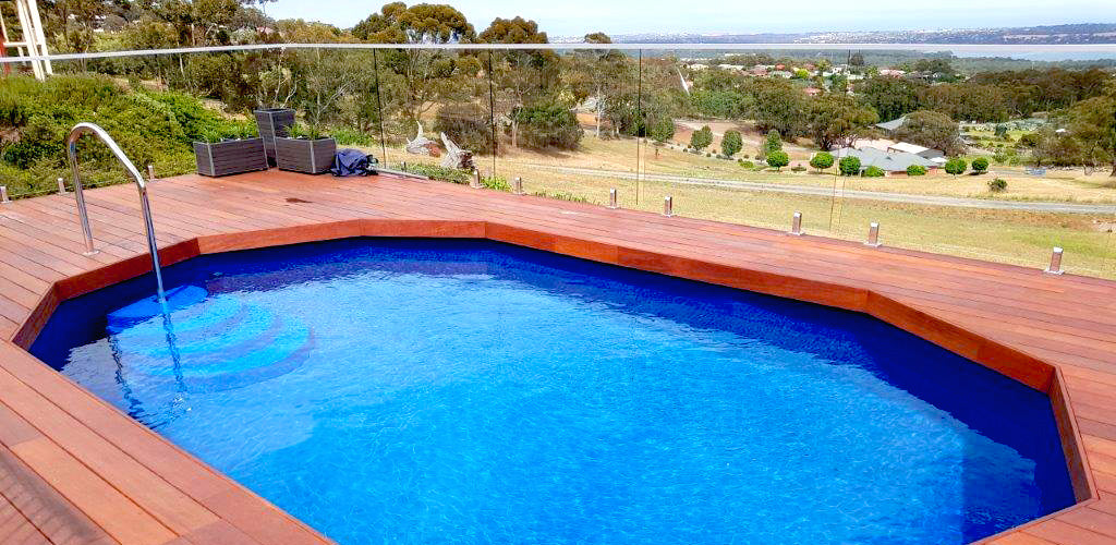 Above Ground Pool - With nice decking