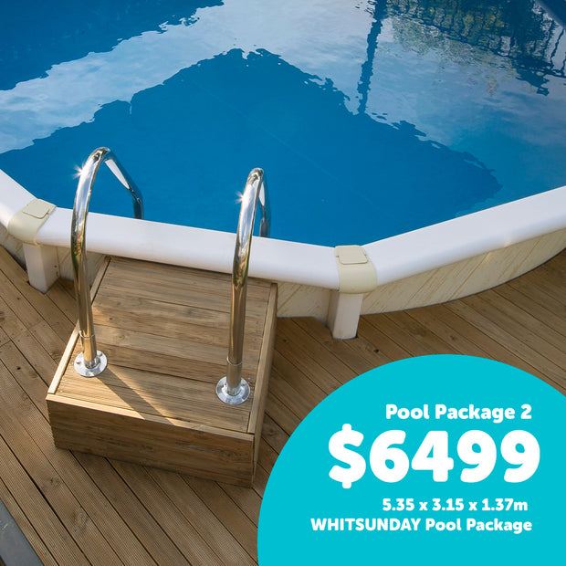Pool 2 - 5.35 x 3.15 x 1.37m WHITSUNDAY Pool Package