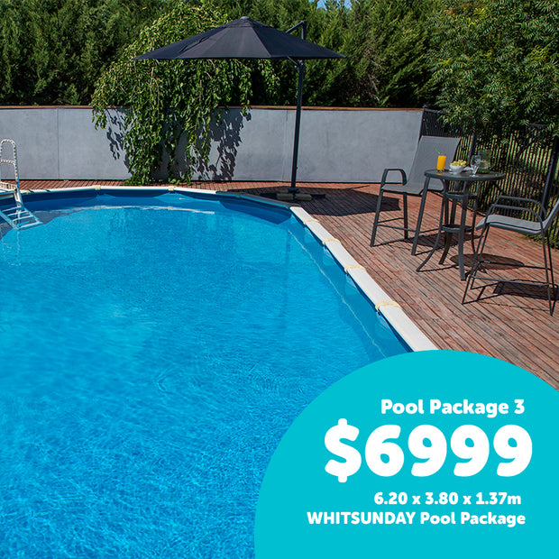 Pool 3 - 6.20 x 3.80 x 1.37m WHITSUNDAY Pool Package