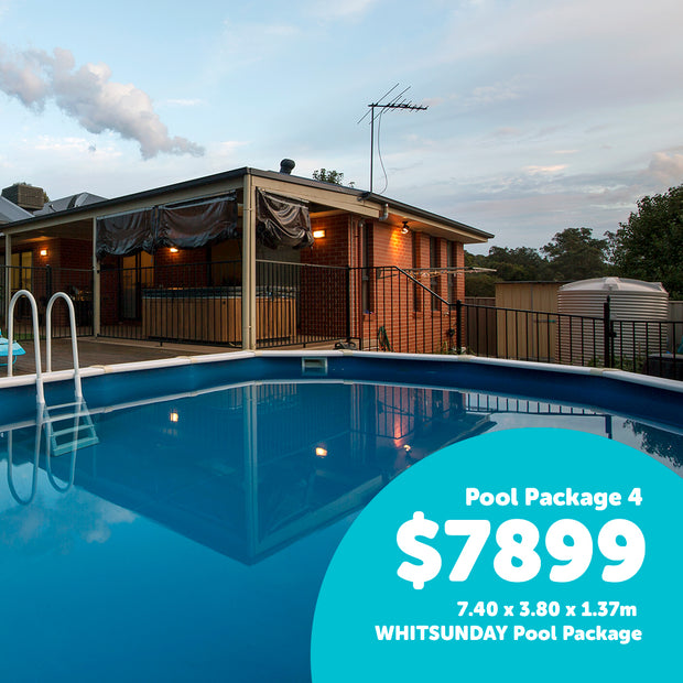 Pool 4 - 7.40 x 3.80 x 1.37m WHITSUNDAY Pool Package