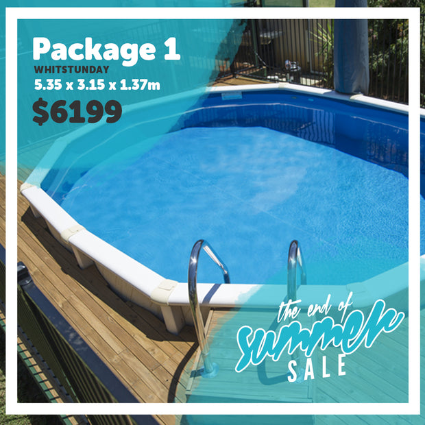 Package 1 : Whitsunday Pool (5.35m x 3.15m x 1.37m)