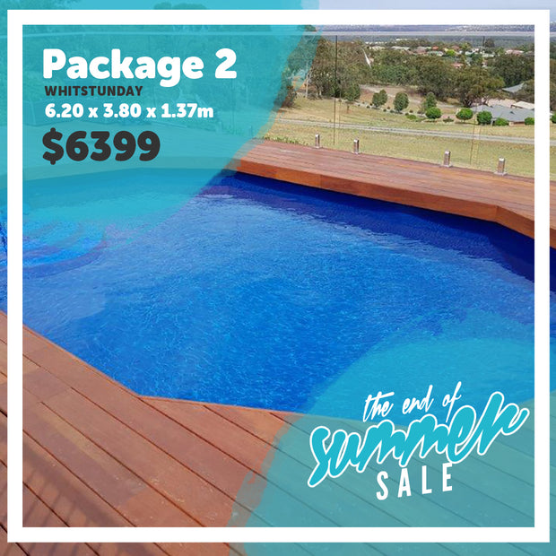 Package 2 : Whitsunday Pool (6.20m x 3.80m x 1.37m)