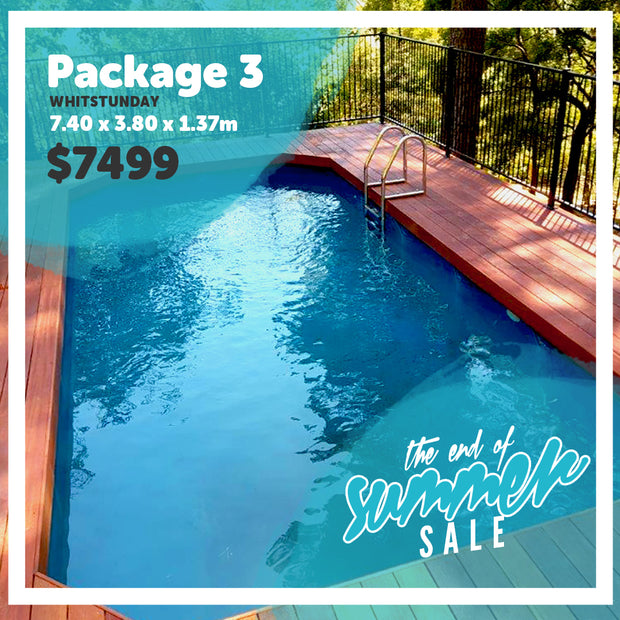 Package 3 : Whitsunday Pool (7.40m x 3.80m x 1.37m)