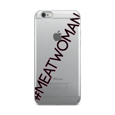 #MEATWOMAN iPhone Case with Pink Outline