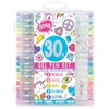 30pc Gel Pen Set + 100 Color In Stickers