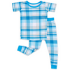 Little Sleepies: 2pc PJ Set: Blueberry Plaid