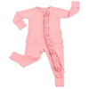 Little Sleepies Zipper PJs: Solid Petal Ruffle