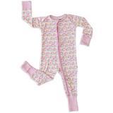 Little Sleepies Zipper PJs: Pastel Rainbow