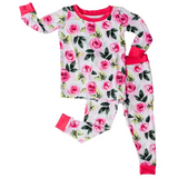 Little Sleepies: 2pc PJ Set: Roses