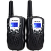 Retevis Walkie Talkie Set w/ Flashlight: Black