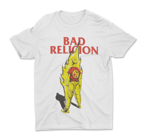 Bad Religion Suffer Boy on Fire White Shirt