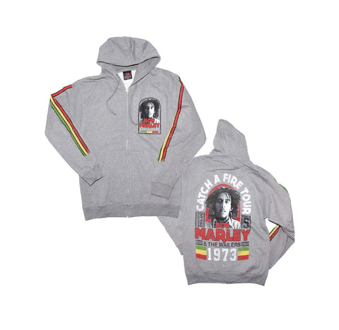 Bob Marley Catch Fire '73 Tour Zip Hoodie