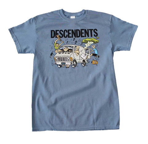 Blue Descendents tour van shirt