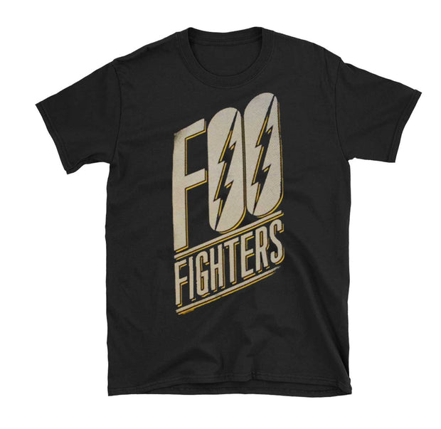 Foo Fighters slanted logo on a slim fit tee.