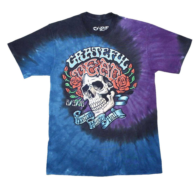Grateful Dead Boston Music Hall '76 Tie Dye Shirt