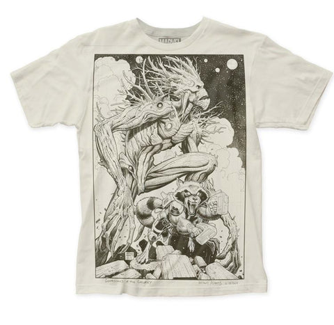 Guardians of the Galaxy Groot and Rocket Sketch Shirt