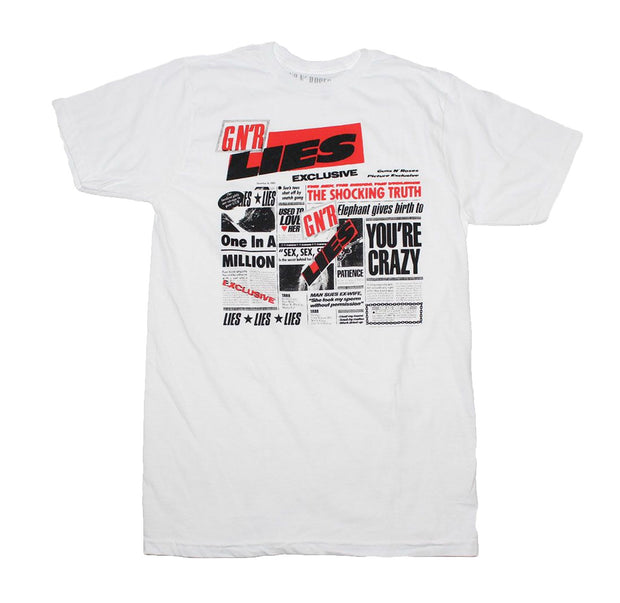 White Guns n Roses Lies album t shirt