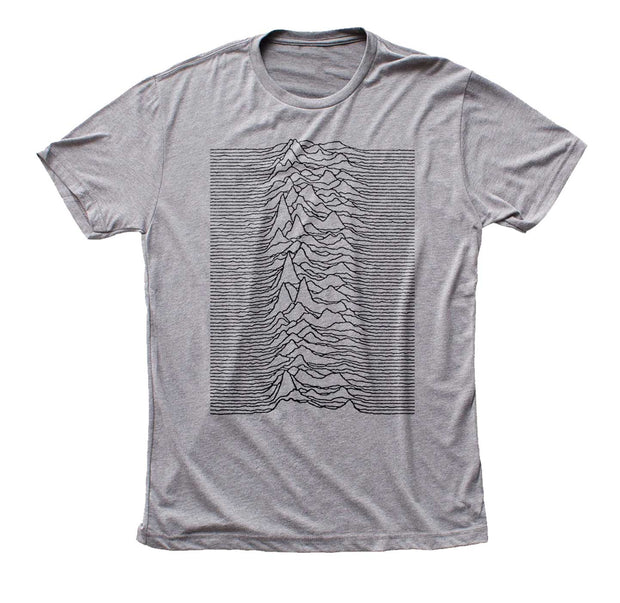 Joy Division Unknown Pleasures Gray Shirt