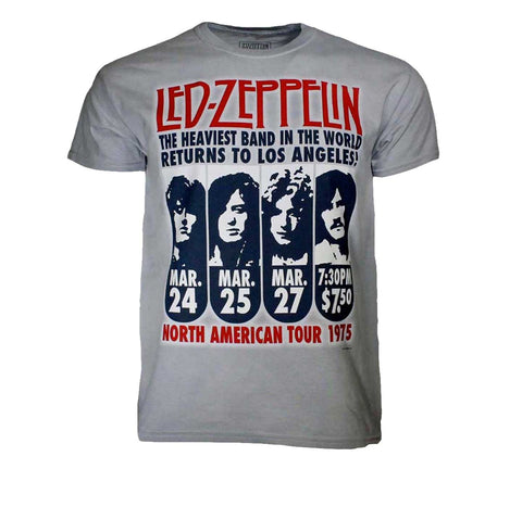 Led Zeppelin Heaviest Band In The World LA Tour Shirt