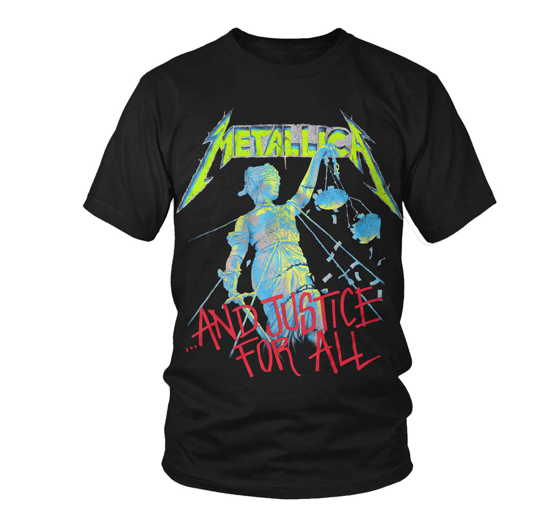 Metallica And Justice For All Neon Shirt