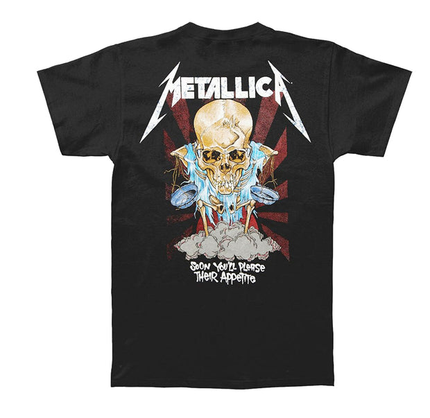 "Metallica Doris tee. ""Soon you'll please their appetite"""