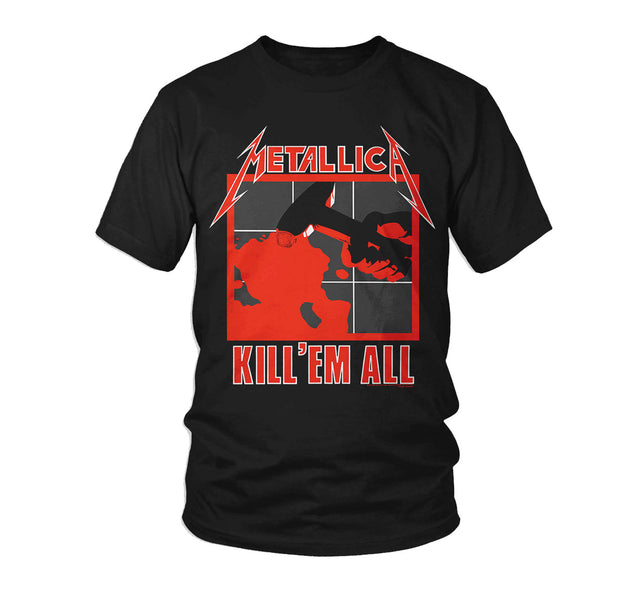 Black Metallica Kill em All band t-shirt