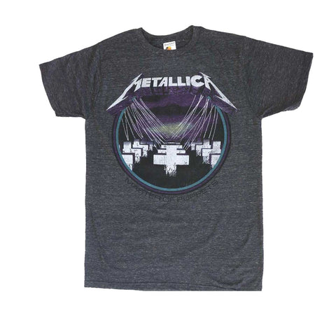 Vintage rock band shirt with Metallica Masters of Puppets artwork