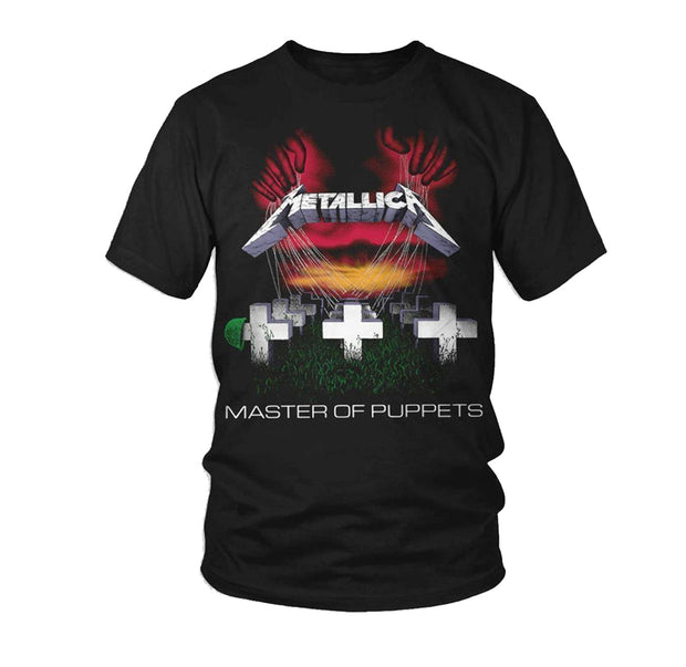 Metal band shirt from Metallica with Master of Puppets artwork