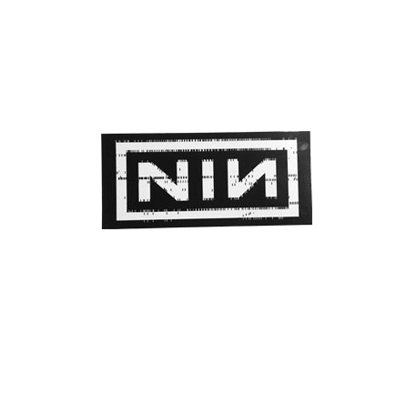 Nine Inch Nails logo gloss sticker