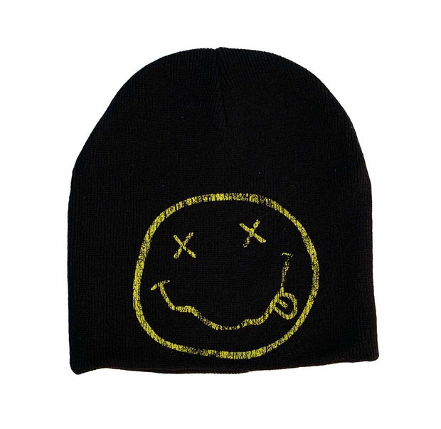 Nirvana Smiley Face Logo Beanie Hat