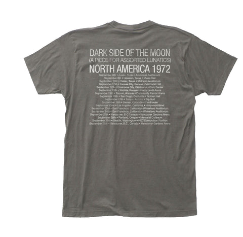 Dark Side of the Moon graphics on front with tour dates on back