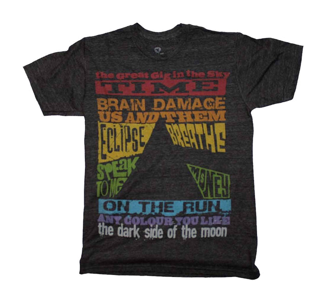 Pink Floyd Darkside of the moon tracks t-shirt