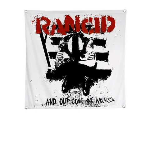 Rancid And Out Come The Wolves large nylon flag
