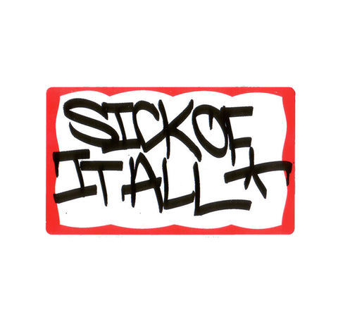 Sick of it All Name Tag Sticker