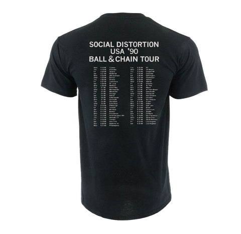 Social Distortion Ball and Chain 90' Tour Shirt