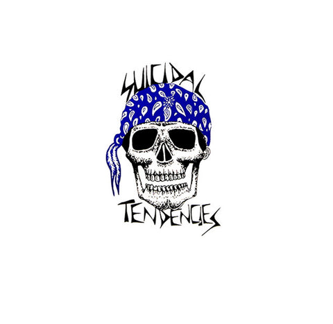 Suicidal Tendencies Blue Bandana Skull Sticker