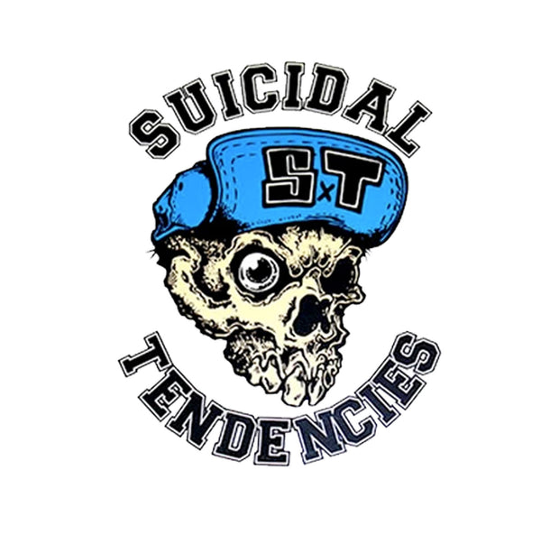 Suicidal Tendencies Skater Skull Logo Sticker