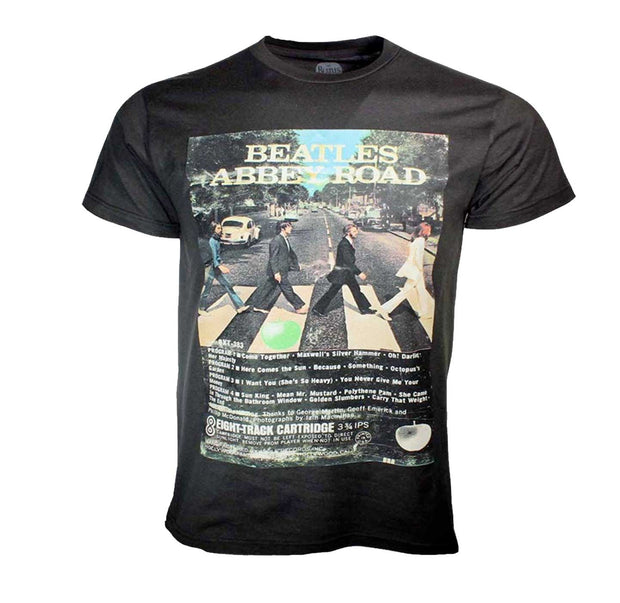 Epic The Beatles Abbey Road 50th Anniversary tee with album tracks. A must for any Beatles collection.