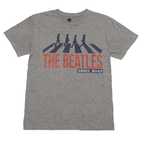 Heather Gray tee with Classic The Beatles Abbey Road image.