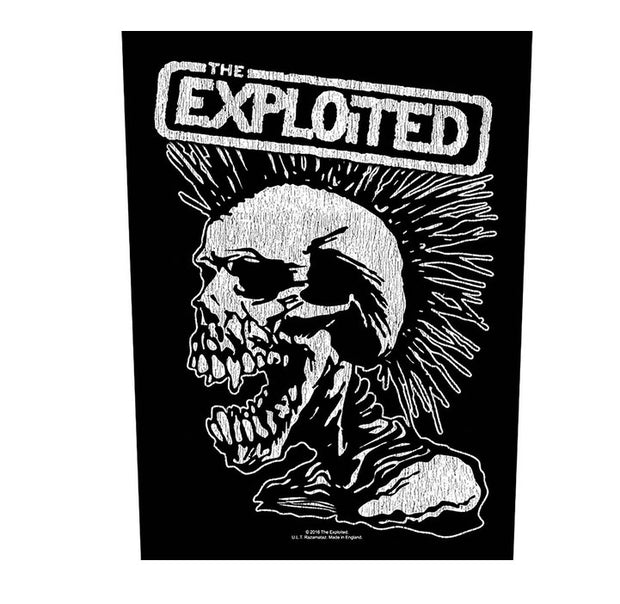 The Exploited Vintage Skull Mohawk Back Patch