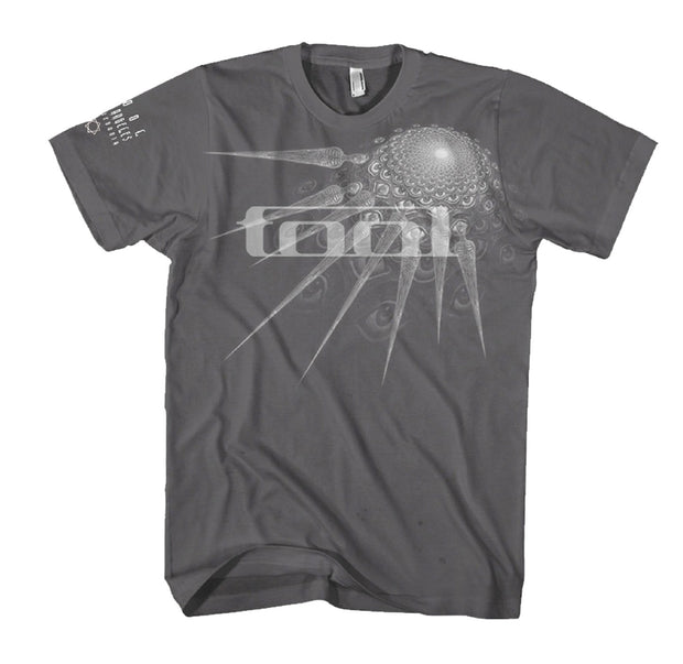 Tool Spectre artwork printed on a charcoal cotton tee.