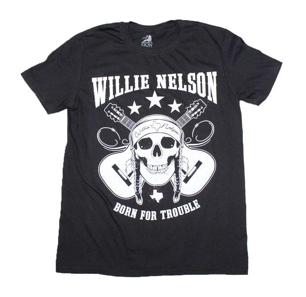 Willie Nelson Born For Trouble Skull Shirt