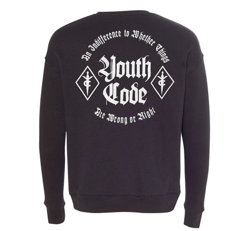 Youth Code Wrong or Right Long Sleeve Crewneck