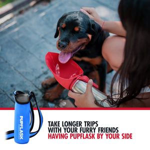 FREE PupFlask Insulated Bottle Sling (40 OZ, Nebulas Blue)